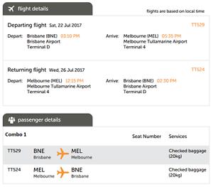 Tigerair Plane Tickets Brisbane to Melbourne (Return) Yeronga Brisbane South West Preview