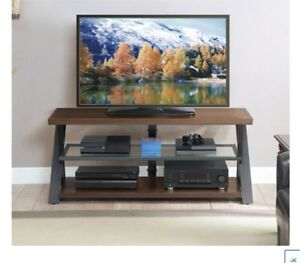 Whalen BBCAVC54-SMB 65in Console TV Stand - Warm Brown Cherry