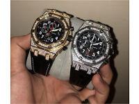 Audemars piguet diamond iced out not Rolex Cartier hublot watch