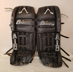 Brian's Black Leather Goalie Pads - $30