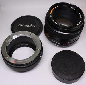 Minolta Rokkor-X PF 50mm F1.7 *SONY E or M4/3 Adapter* CommeNEUF