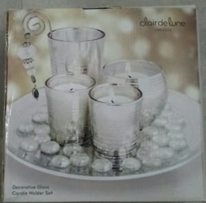 MIKASA , CLAIRE DE LUNE , CRYSTAL - BRAND NEW CANDLE HOLDER SETS
