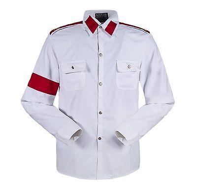 Michael Jackson CTE Armband Epaulet Shirt  MJ Costumes Long Sleeve Shirts - Mj Costume