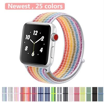Us Nylon Woven Sport Loop Bracelet Watch Band Strap For Apple Watch Series 1 2 3