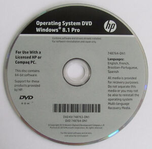 HP OEM Win 7 and Win 8.1 Professional SP1 64Bit DVD