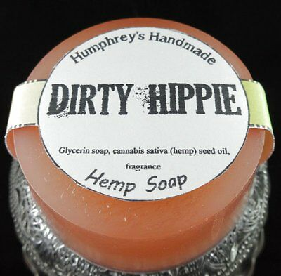 Hippie Hemp (DIRTY HIPPIE Hemp Oil Soap, Detergent Free, Patchouli Glycerin Bar Puck Hippy )