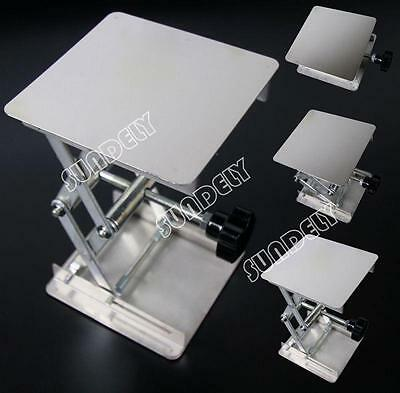 4'' Stainless Steel Lab Stand Table Scissor Lift laboratory Jiffy Jack 100*100mm