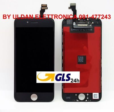 TOUCH SCREEN FRAME VETRO LCD DISPLAY RETINA SCHERMO PER APPLE IPHONE 6 6G NERO