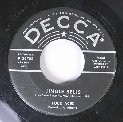 Christmas 45 Four Aces - Jingle Bells / The Christmas Song On Decca ()