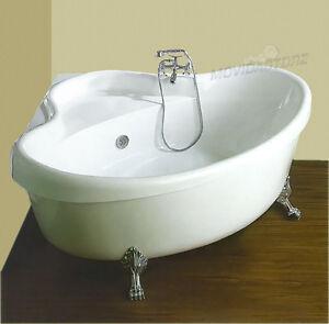 Vasca da bagno ad angolo angolare vasche cm 160x160 vittoriano retr piedi leone ebay - Vasca da bagno retro ...