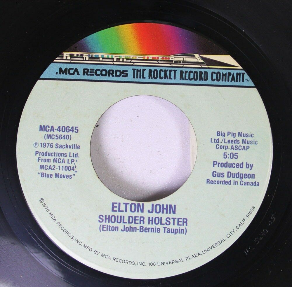 Details about Rock 45 Elton John - Sorry Seems To Be The Hardest Word /  Shoulder Holster MCA