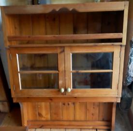 Rustic Farmhouse Solid pine dresser top, wall unit