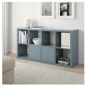 IKEA Kallax TV rack / Bookcase - High Gloss Grey