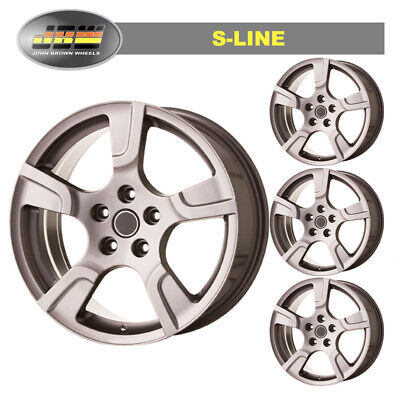 """8 x 18"""" JBW S-LINE GUNMETAL WHEELS TO VW T6 SET OF 4 LOAD RATED"""