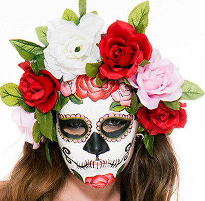 Muerta Mask Day Of The Dead Dia De Los Muertos Mexico Sexy Skull Mexican ()