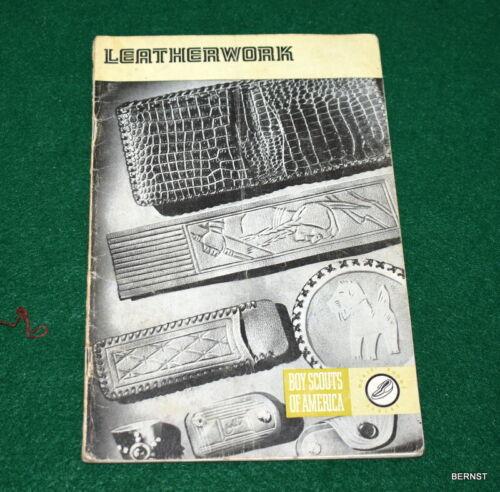 1973 LEATHERWORK BOY SCOUT  MERIT BADGE BOOK