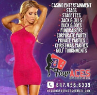 Stags, Bachelor Party, Hostesses, Casino Tables