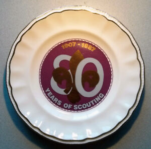 Scout - 80 Years of Scouting  (1907 - 19870) plate