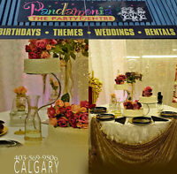 Party/Wedding Supplies and Rentals For Sale