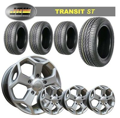 """8""""x18"""" JBW TST SILVER ALLOY WHEELS+TYRES TO SUIT FORD TRANSIT MK6 7 8(SET OF 4)"""