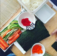 Sushi class and full meal with friends and family