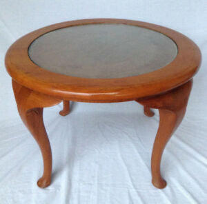 Unique Round Wood Display  Table