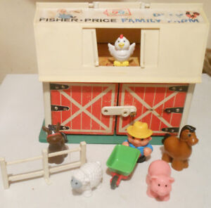 Vintage Fisher-Price Play sets Barn   house