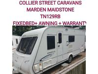 2008 Compass Omega 540 fixed bed caravan + motor movers isabella awning