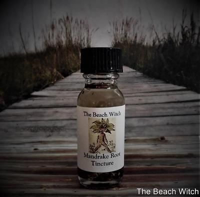MANDRAKE ROOT INFUSED OIL Ritual Oil Herb Oil Tincture ~ Wicca Witchcraft Spells