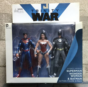 Wonder Woman, Superman, Batman Action Figures 3-Pack Box Set