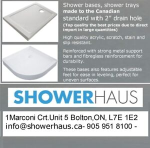 Shower Bases, Shower Trays, Shower Panels on sale Shower bases,