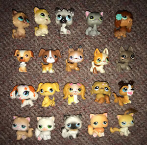 Littlest Pets Shop Lot of 20 Only All Cats & Dogs