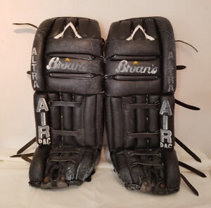 Brian's Black Leather Goalie Pads - $50