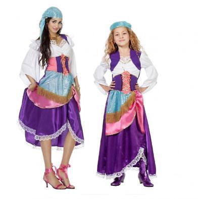 Zigeunerin Ungarin Zigeuner Kleid Kostüm Kinder Zigeunerkostüm Ungarisch - Zigeuner Kleid Kostüm