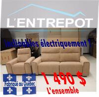 ensemble Sofa & fauteuil- LIQUIDATION PERMANENTE A L'ENTREPÔT