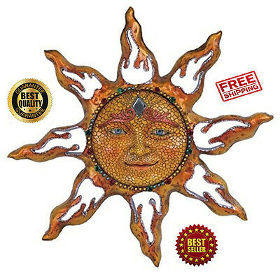 Sun Celestial Wall Art Mosaic Indoor Outdoor Decoration Garden Patio Home Decor ()