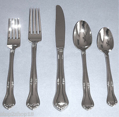 Gorham VALCOURT 5 Piece Place Setting 18/10 Stainless Flatware New