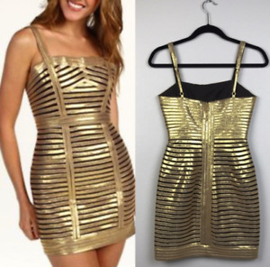 BCBG GOLD COCKTAIL PARTY DRESS NEW, NEVER WORN