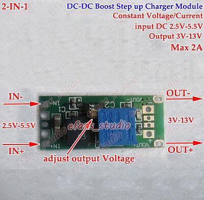 Dc-dc Boost Step Up Cc Cv 2.5v5.5v 3.3v 3.7v 4.2v To 5v 6v 9v 12v 2a Converter