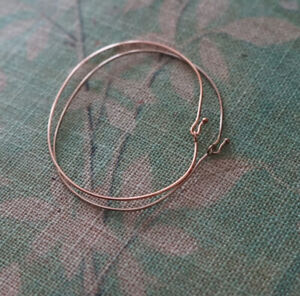Silver Plated and Rose Gold Plated bracelets - bangles set