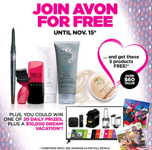 Sign up for avon for free! *lots of incentives