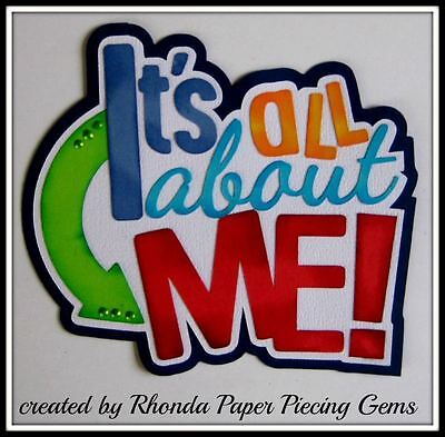 ALL ABOUT ME BOY title paper piecing for Premade Scrapbook Pages by - All About Me Paper
