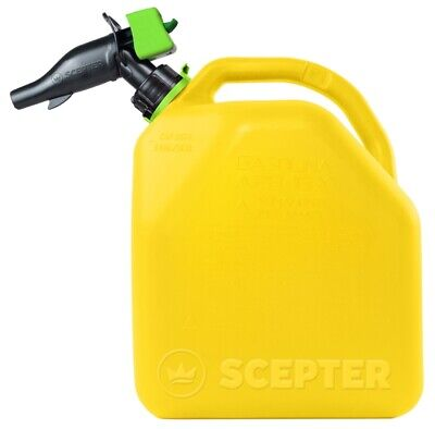 New Case Of 4 Scepter Fr1d501 5 Gallon Plastic Diesel Fuel Cans Jug 4496519