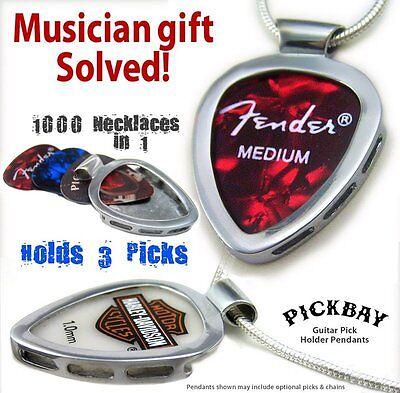 PICKBAY GUITAR PICK HOLDER Pendant & HARLEY Davidson Guitar Pick Set Best