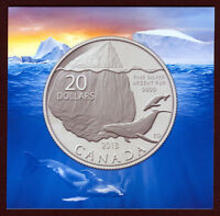 2013 CANADA $20 'Whale & Iceberg' Silver Coin - Buy Two for $45