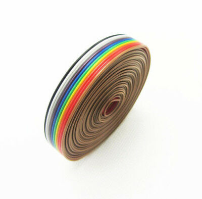 Top 10 Way 10p Flat Color Rainbow Ribbon Cable Wire 1.27mm Bbc