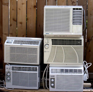 Five Window-mounted Air Conditioners