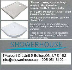 Shower Bases, Shower Trays from $ 135.00+ Tax Shower bases,