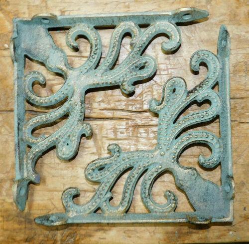 2 Cast Iron Antique Style OCTOPUS Brackets Garden Braces Shelf Bracket HD Vine