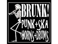 Alternative brass band still audition trumpets, alto horns,trombone,baritone and glockenspieler